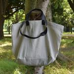 Carryall Natural with black strap sizeM