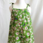 【SALE★50%OFF】BABY DUNGAREES GREEN FLOWERS