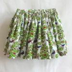 【SALE★50%OFF】KIDS SHORT SKIRT WHITE FLOWERS