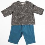 【SALE★30%OFF】 Baby ensemble star tops/ blue pants