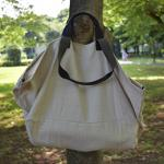 Carryall Natural with black strap sizeL
