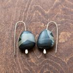 "MARY MACGILL ""Black Marble Earrings"""