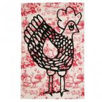 Tea Towel Cocotte Red